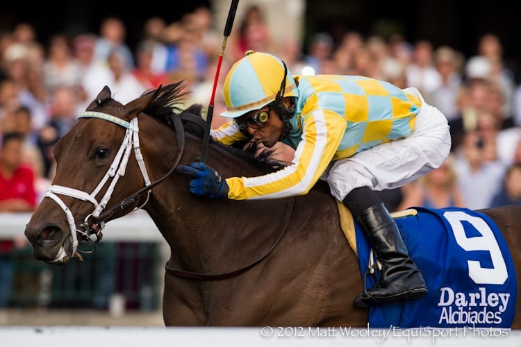 Spring in the Air captures the 2012 Darley Alcibiades Stakes