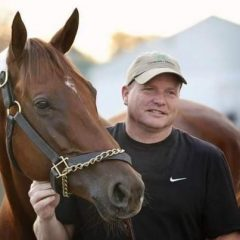 Trainer Buff Bradley with Groupie Doll