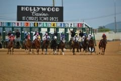 Charles Town race track starting gate