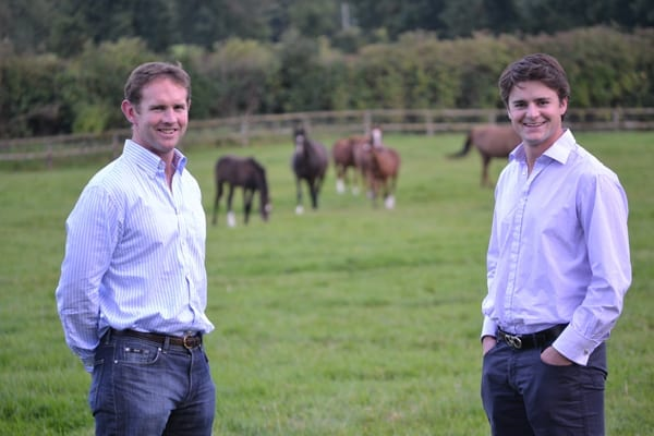 David Cox of Baroda Stud (left) and Dave Myerscough of Colbinstown Stud