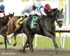 'Ebby' winning her second career start at Santa Anita