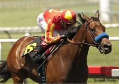 Executiveprivilege wins Landaluce Stakes