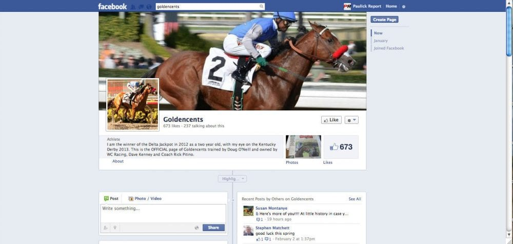 Goldencents Facebook page