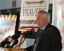 NYRA president and CEO Charles Hayward before the 2010 Travers