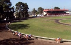 Racing at the Humboldt County Fair in Ferndale, California