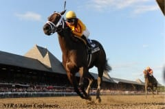 Kauai Katie wins the Adirondack Stakes