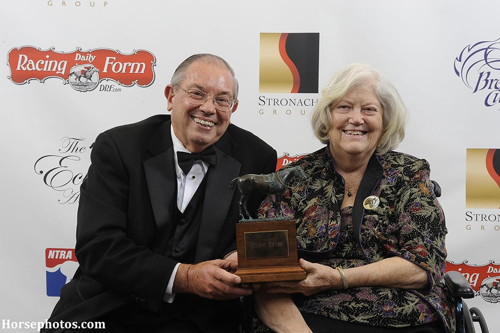 Ken and Sarah Ramsey with an Eclipse Award in 2013