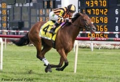 Little Mike charges to victory in 2012 Arlington Million