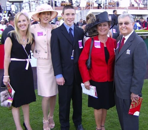 Richard and Linda Laird (right) with Kathy Harty (2nd left) and son Eddie