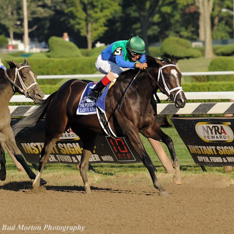 Love And Pride Victorious In Personal Ensign Horse