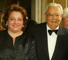 Samantha Siegel with her late father, Mace Siegel, a founding member of the TOC.