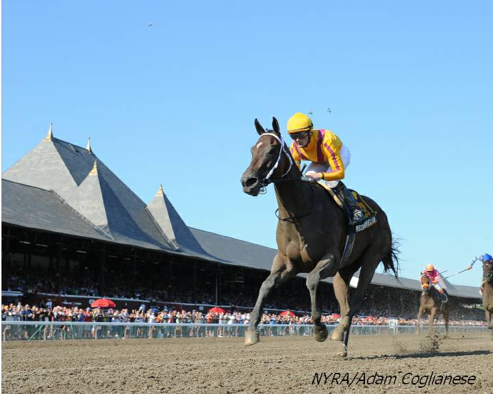 My Miss Aurelia wins Mandy's Gold Stakes at the Spa