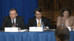 Alan Foreman (center) speaking at a 2013 ROAP conference