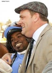 Jockey Kevin Krigger and Doug O'Neill