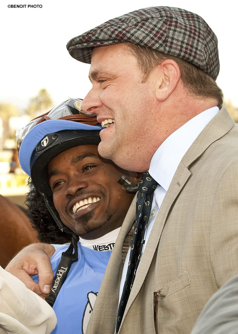 Jockey Kevin Krigger and Doug O'Neill