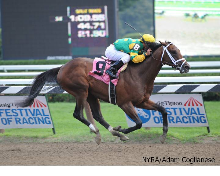 Palace Malice breaks maiden at Saratoga