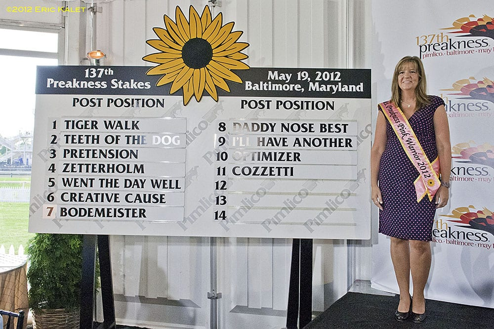 Preakness 2012 post draw with Ms Preakness