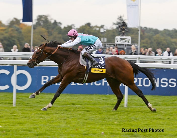 Frankel winning the Qipco Champion Stakes