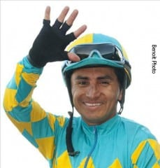 Rafael Bejarano leads Tyler Baze 8-7 in the Los Alamitos jockey standings.