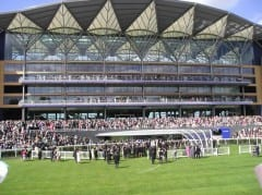 The grandstand at Ascot Racecourse