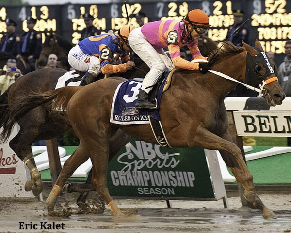 Ruler On Ice upsets the field in the 2011 Belmont Stakes