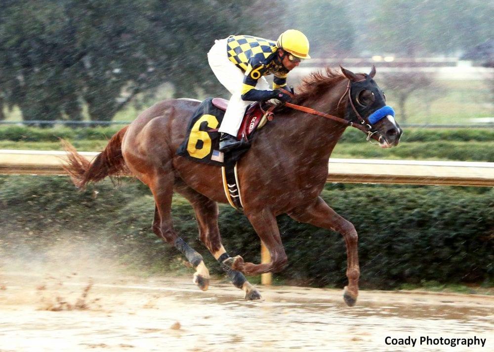 Super Ninety Nine winning the Southwest Stakes
