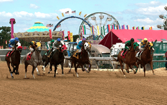 Thoroughbred racing at Timonium Racetrack/Maryland State Fair