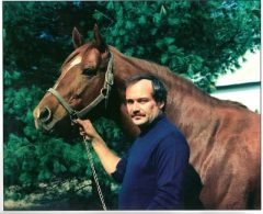 Bill Nack with Secretariat