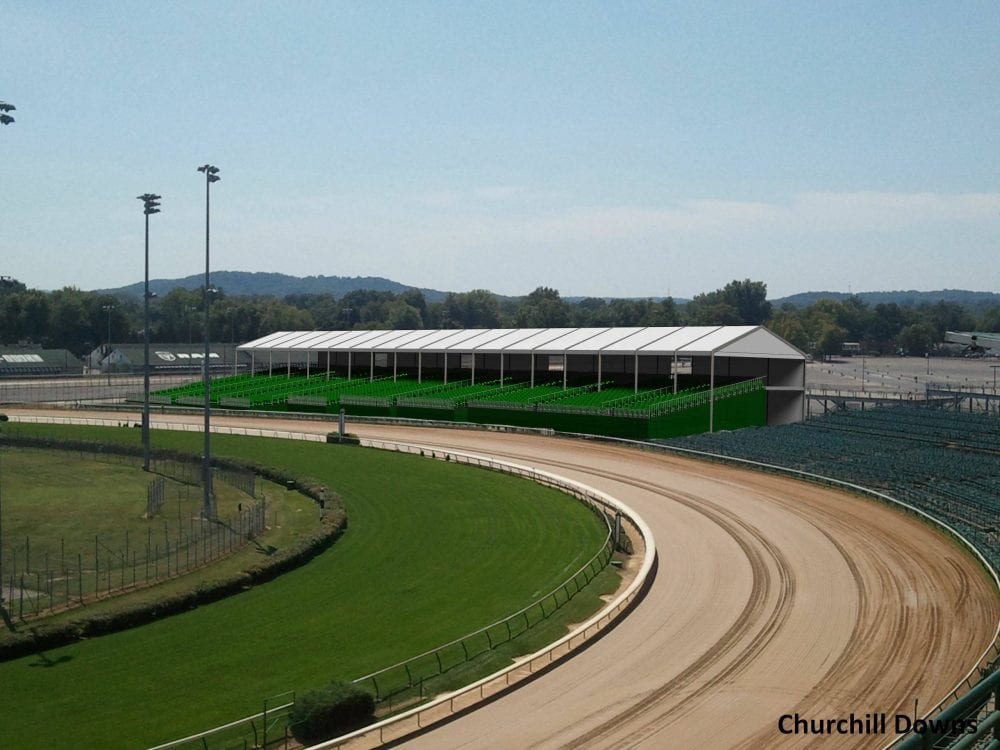 Churchill Downs Unveils Section 110 Trackside Seating