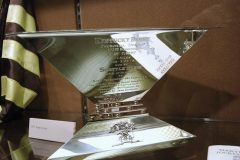 The Triple Crown trophy