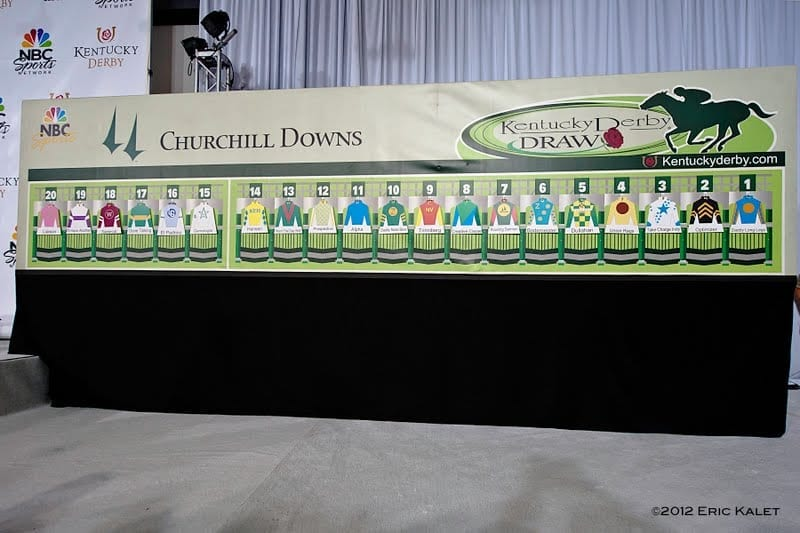 Completed Derby 138 Draw Board