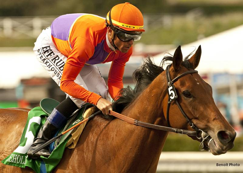 Beholder Dominates Field In Las Virgenes Horse Racing