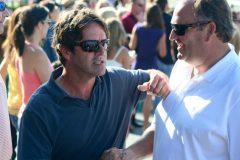 Trainer Keith Desormeaux (left) with owner Matt Bryan