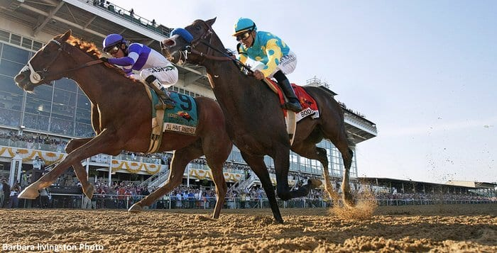 Two Racetrackers Watch Pimlico From Very Different Seats