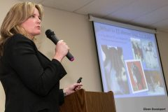 Dr. Patricia Hogan speaking (on 4/27) at Equine Advocates 2013 American Equine Summit in Chatham, NY