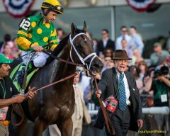Cot Campbell leads Palace Malice to winner's circle after Belmont Stakes