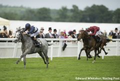 The Richard Hannon-trained Sky Lantern wins the G1 Coronation Stakes at Royal Ascot 2013