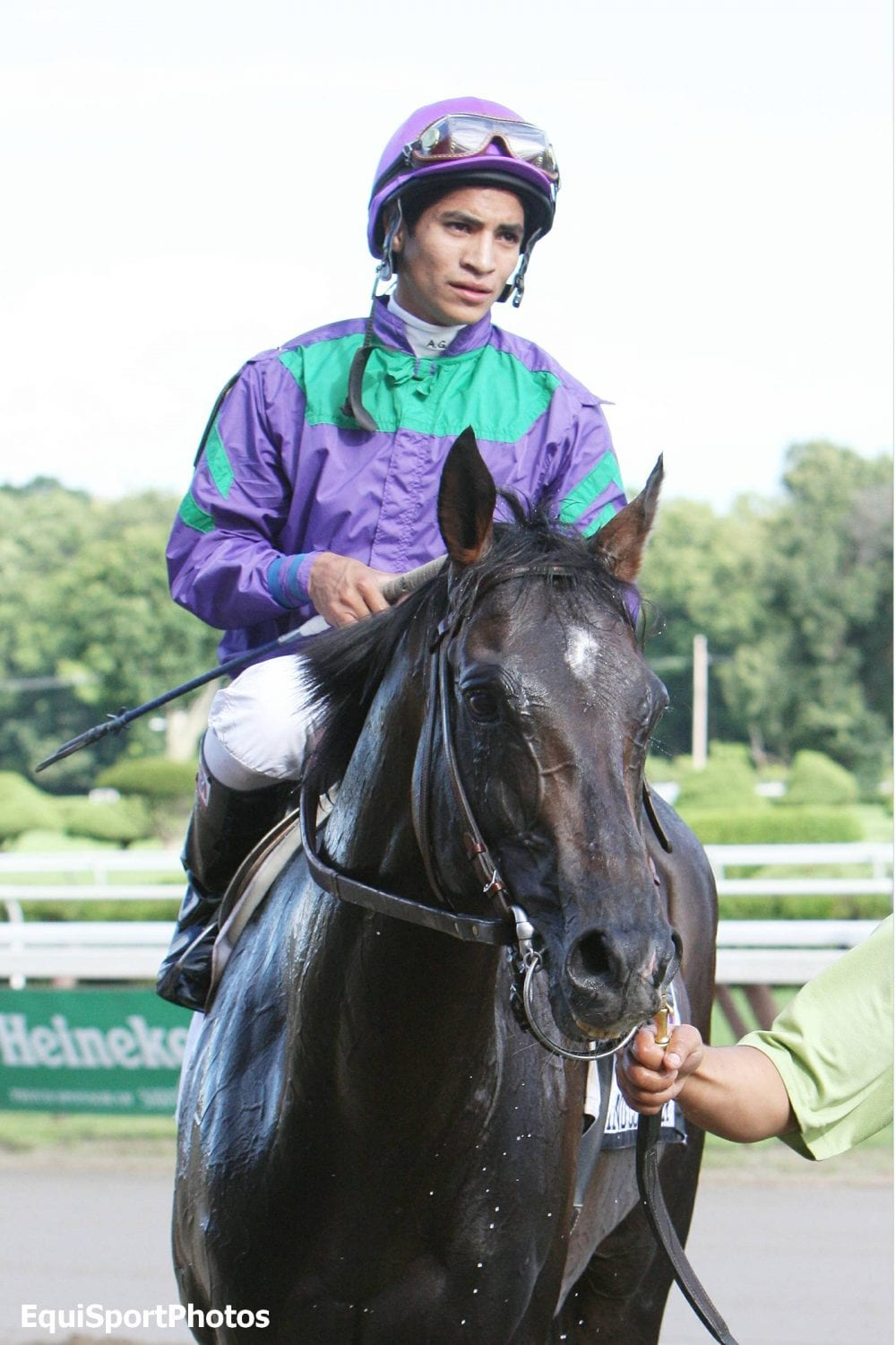 Alan Garcia and Grand Courtier after winning Sword Dancer