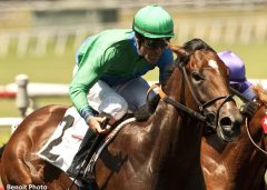 Alpine Luck wins the Hollywood Juvenile Championship Stakes
