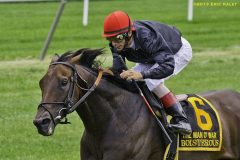 Boisterous wins the Man o'War Stakes