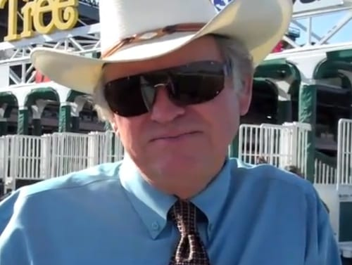 Gary Brinson, head of the starting gate crew at Del Mar