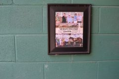 One of Plantation's win photos is proudly displayed in the barn at Greenfield, where he was raised