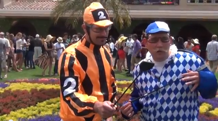 Opening Day at Del Mar - You never know who (or what) you might see