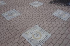 Hoofprints Walk of Fame at Saratoga. Stymie and Los Angeles are new additions to the Walk of Fame