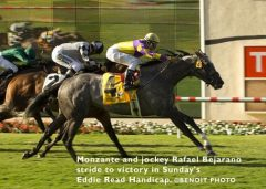 Monzante wins the Eddie Read Handicap in 2008