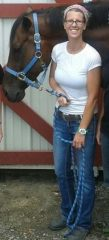 "Shelly and ""Russ,"" her Thoroughbred who never made it to the track"