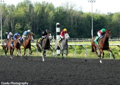 Taylor Rice and Giggle Fit pull away in her first career win at Presque Isle Downs