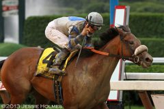 Sweet Reason (Alex Solis, up) romps in the 2013 Spinaway Stakes