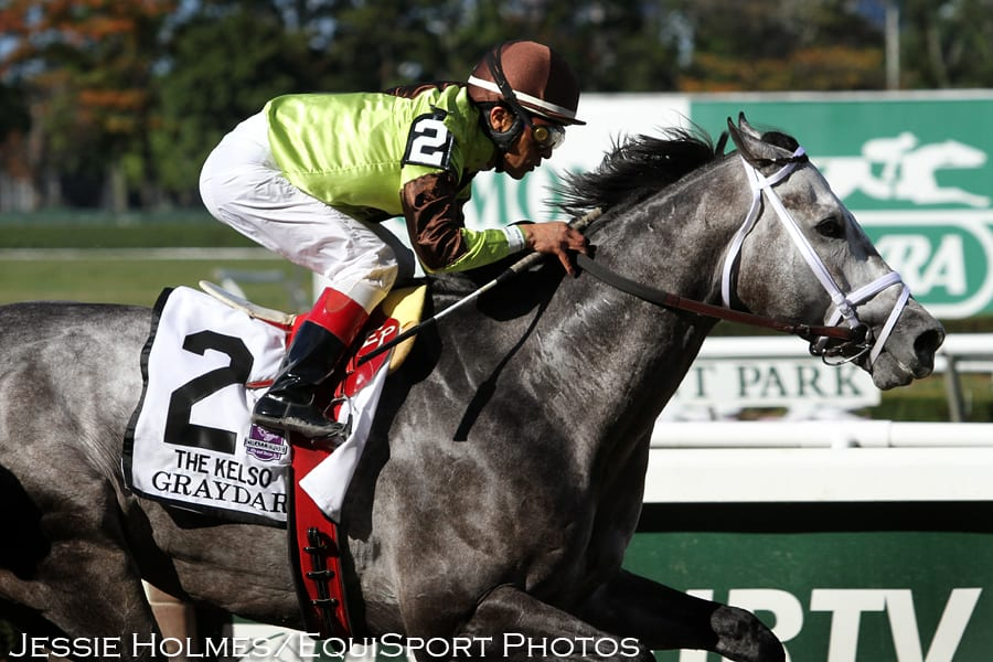 Graydar returns from an injury to win the Kelso Hdcp.