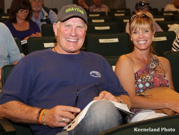 Hall of Famer Terry Bradshaw and Kim Gullatt of Twin Creeks Farm